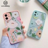 Lovebay NUOVO di Modo Grazioso Fiore di Caso Del Modello Del Telefono Per il iPhone 11 11Pro Max X XR XS Max 7 8 Più SE 2020 Animale Sveglio Della Copertura Posteriore