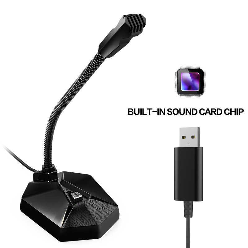 מקצועי USB תקע משחקי מיקרופון Stand עבור מחשב מחשב שולחן הקבל מיקרופון משחק לחיות שידור כנס מחשב נייד HD