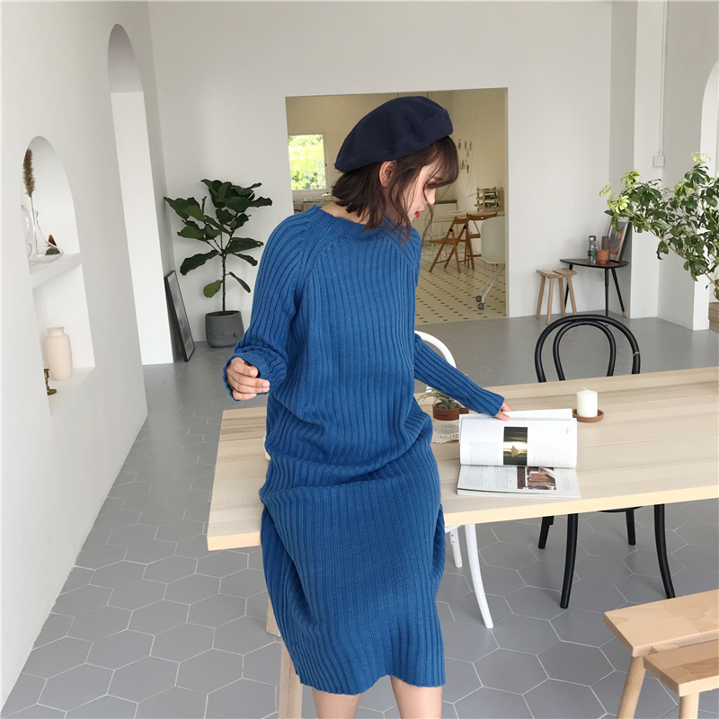 7303# 2019 Autumn Winter Knitted Maternity Sweater Dress Elegant Bodycon Maxi Long Dress For Pregnant Women Pregnancy Pullovers