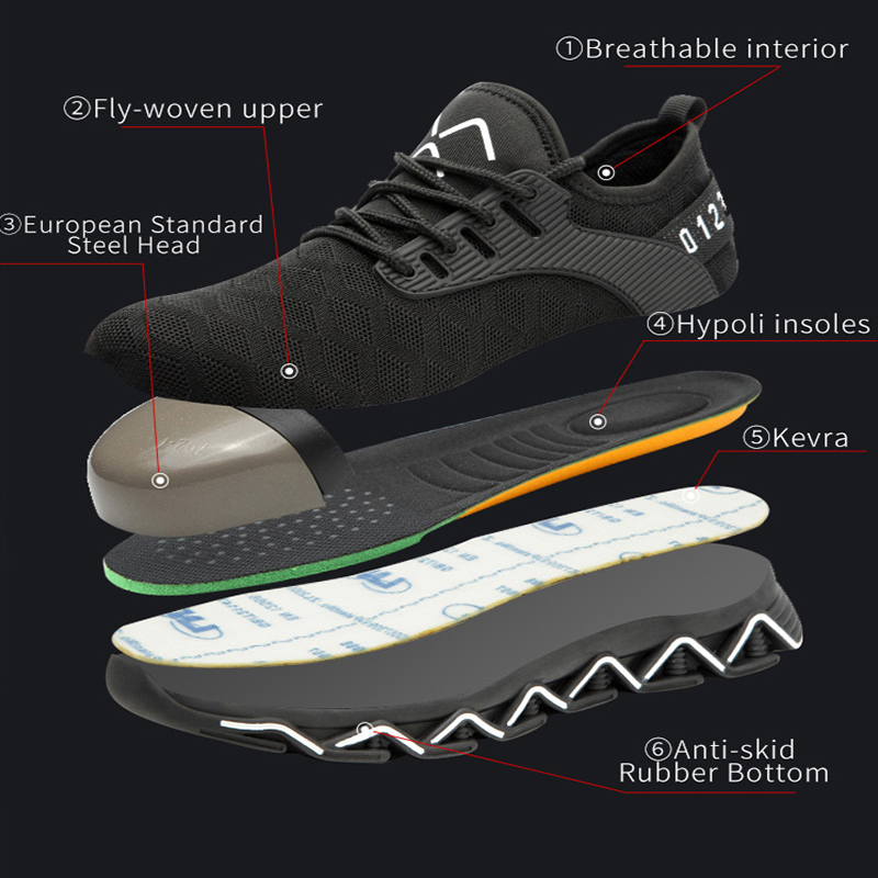Image 3 - JACKSHIBO/Новый дизайн; Безопасная рабочая обувь; ботинки для мужчин; нескользящие ботинки со стальным носком; Мужская Строительная обувь; защитные ботинки; кроссовкиЗащитная обувь   -
