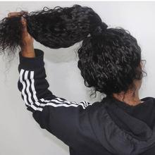 Волна воды полный шнурок человеческих волос парики с детскими