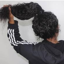 Woda pełna peruki typu lace z ludzkich włosów z dzieckiem włosy 8-26 Cal peruka na koronce Glueless peruwiański Remy ludzki włos pre oskubane i bielone węzłów