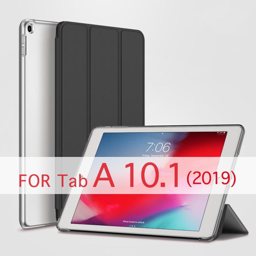 QIJUN Tablet Case For Samsung Galaxy Tab A (2019) 10.1 Inch SM-T510 SM-T515 Funda PC Back PU Leather Smart Cover Auto Sleep