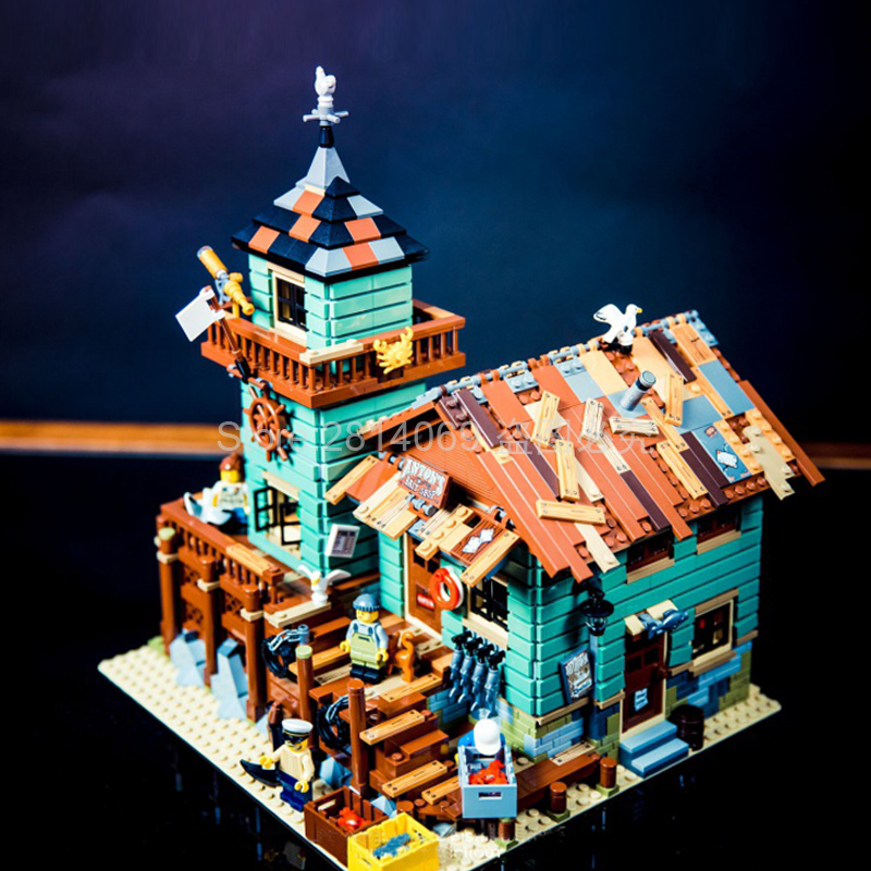 16050 Creator Ideas Seaside Old Fishing Store Building Block Bricks Toys Kids Gifts Compatible With 21310 Movie