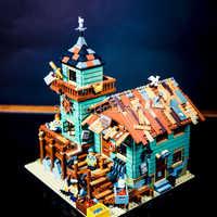16050 idées de créateur bord de mer vieux magasin de pêche bloc de construction briques jouets enfants cadeaux Compatible avec 21310 film