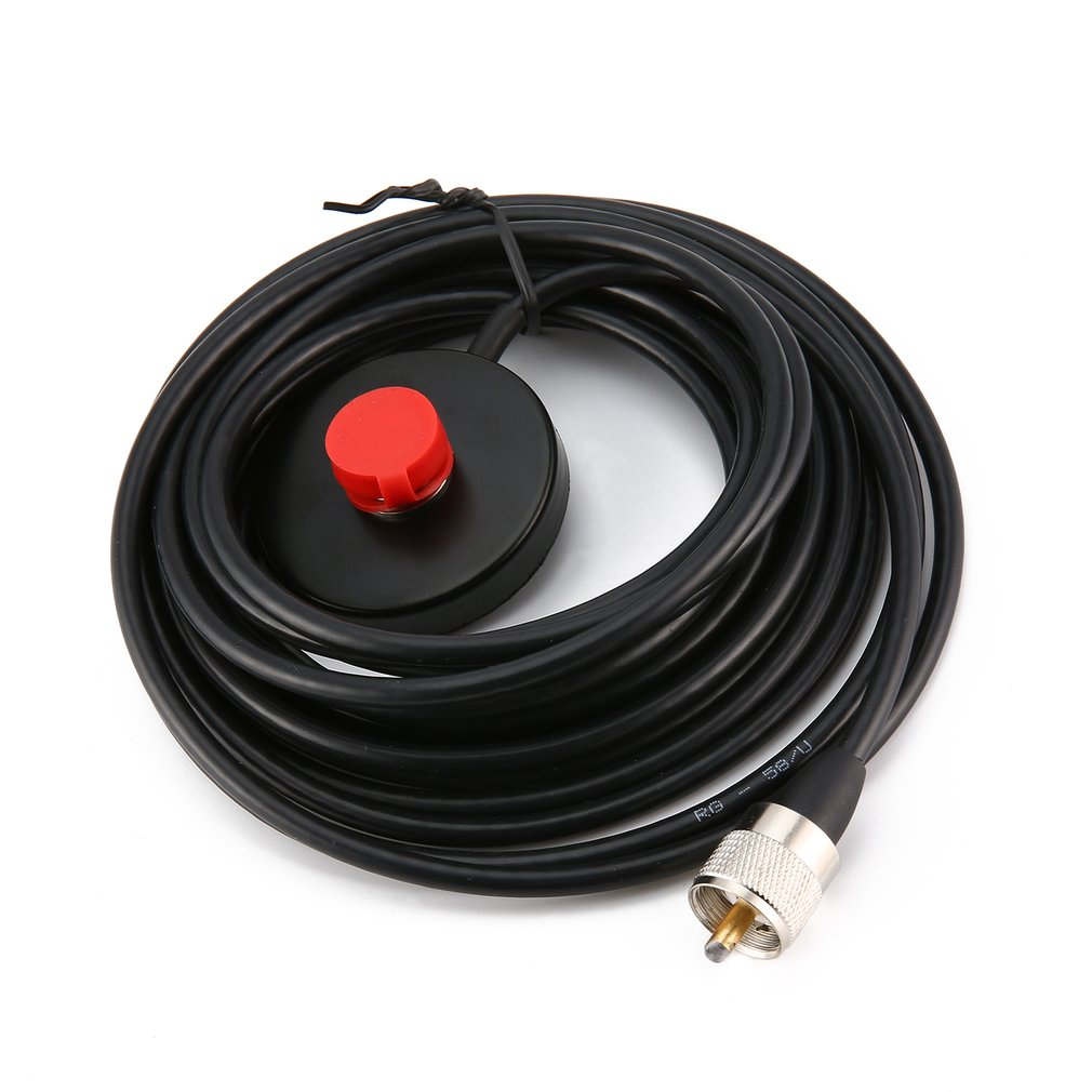 Black Professional 5.6CM Magnet 5M Feeder Cable Two Way Radio Magnetic Antenna Base SMA-Female A Car Sucker