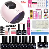 Nail Acrylic Set for Manicures Machine Drill Gel Nail Kit Uv Gel Manicure Kit Polygel Set Supplies for Professionals Art Tolls