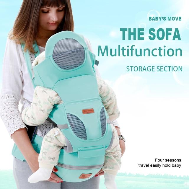 Portabebés ergonómico de 0-48 M, portabebés de bebé con cara frontal, canguro ergonómico, cabestrillo para viaje de bebé