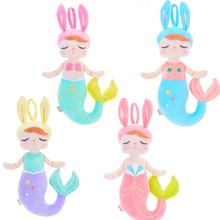 Metoo Plush Toy Angela Mermaid Dolls with Box Dreaming Girl Rabbit Stuffed Gift Soft Doll for Kids