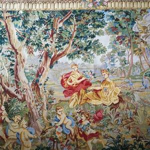 """Image 2 - בלגי מארג אירופאי רטרו אמנות שטיחי קיר סלון ציורי """"Hofgarten"""" 95X137CM GT HY2014"""