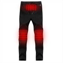 Electric Heated Warm Pants Women USB Heating Base Layer Trousers Insulated calça feminina Winter Outdoor Hiking D20