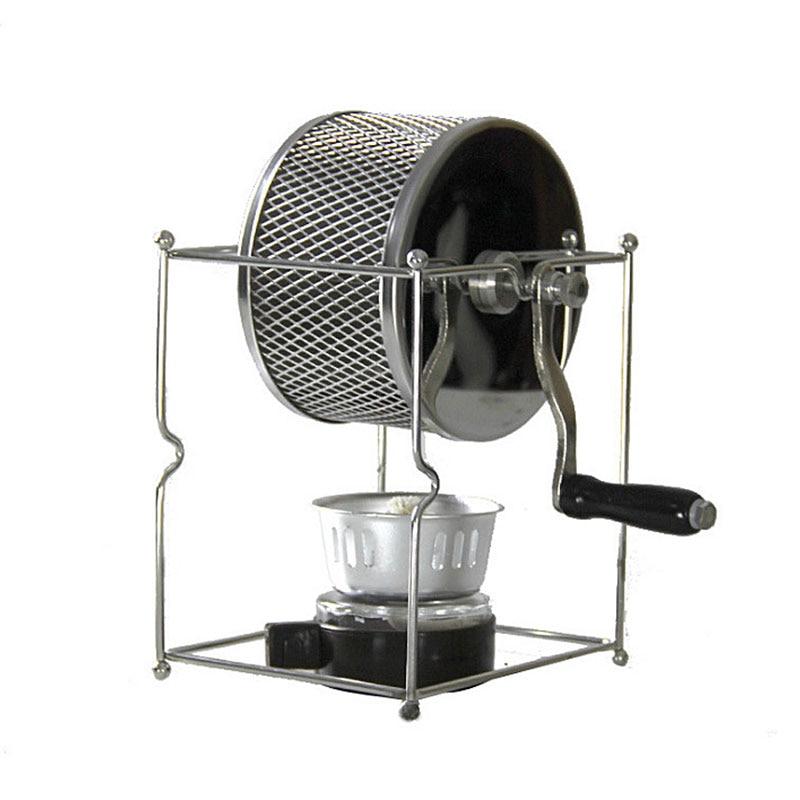 Machine manuelle de torréfaction de grain de café de Machine de haricot de séchage à la main à la maison petite Machine de cuisson de rouleau d'acier inoxydable HB01