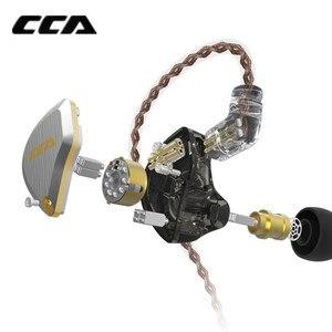Image 4 - Новинка CCA C12 5BA + 1DD гибридная металлическая гарнитура HIFI бас наушники в ухо монитор шумоподавление наушники сменный кабель V90 ZSX