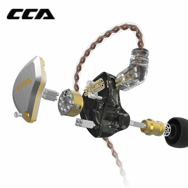 Nouveau CCA C12 5BA + 1DD casque métal hybride HIFI basse écouteurs dans les casques d'oreille écouteurs antibruit C10 C16 ZSX A10