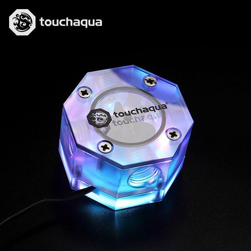 Bitspower Touchaqua Octagon Water Flow Indicator +5V 3PIN DRGB G1/4 Flower BPTA-OFI-DRGB