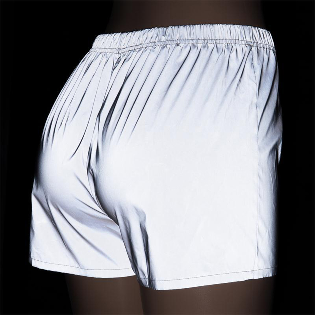 Women Jogger Night Running Short Pant Reflective Outdoor Sport Baggy Trouser