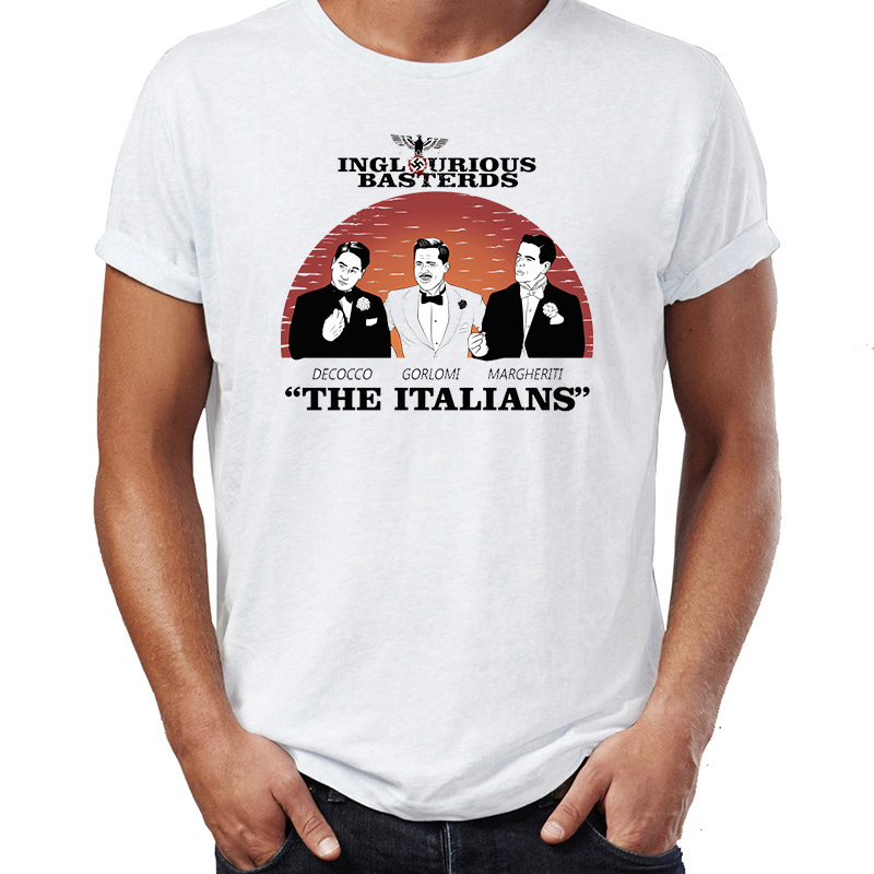 Hip Hop Men T-shirts Inglorious Bastards The Italians Awesome Artwork Printed Street Guys Tops & Tees Swag 100% Cotton Camiseta