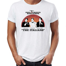 Hip Hop Men T-shirts Inglorious Bastards The Italians Awesome Artwork Printed Street Guys Tops & Tees Swag 100% Cotton Camiseta(China)