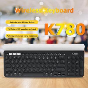 Image 5 - Беспроводная клавиатура Logitech K780 для ПК, компьютера, телефона, планшета, полноразмерная Бесшумная клавиатура, совместимая с Windows, Mac