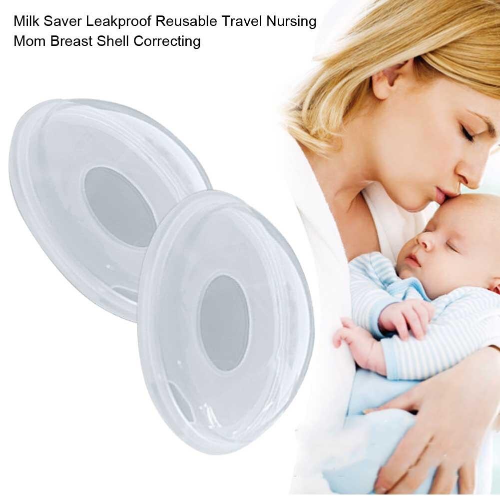 2PCS Travel Correcting Home Portable Leakproof Reusable Milk Saver Tool Nipple Breast Shell Soft Nursing Mom Breastfeeding Cups