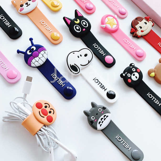 Cartoon Kabel Protector Data Line Cord Protector Beschermhoes Kabelhaspel Cover Voor iPhone Usb-oplaadkabel Voor iPhone xr