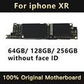 Original Motherboard Unlocked For iPhone XR 64G 128G 256G NO FACE ID Mainboard Logic Board Free iCloud Clean Unlock Mother Board