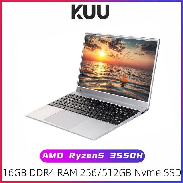 KUU G2 Gaming Laptop AMD Ryzen5 3550H 16GB Dual channel DDR4 RAM 256/512GB PCIE SSD 15.6-inch IPS Screen Office/Gaming Notebook 1