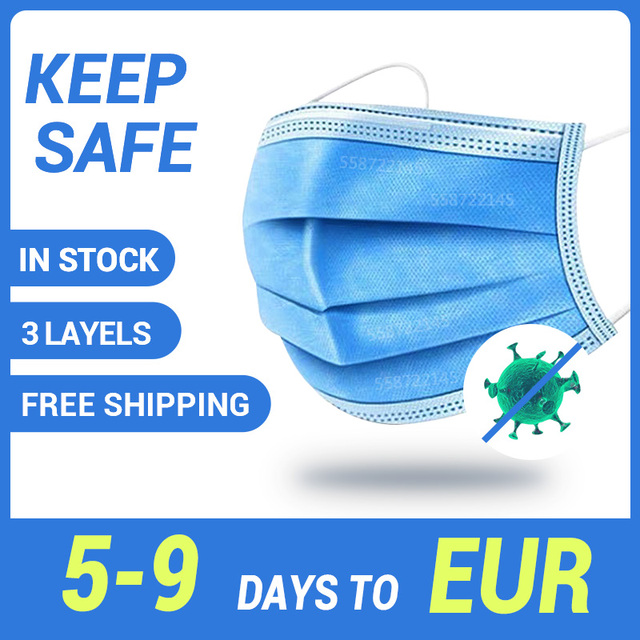 Face Mask Disposable Mask Mouth Mask 3 Layer Safety Earloop Mask Filter Mask Breathable Masks