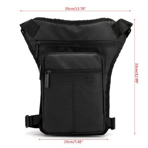 Image 2 - Men Nylon Motorcycle Hip Belt Waist Fanny Pack Riding Travel Shoulder Messenger Crossbody Bags Thigh Drop Leg Bag