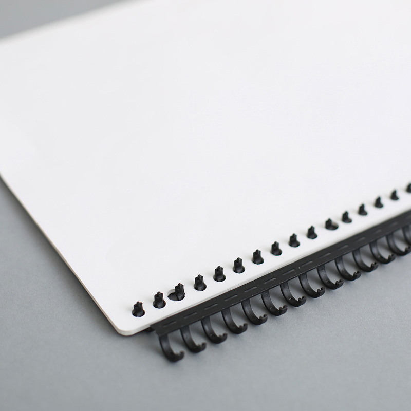 1pcs 16mm A4 30 Hole Loose-leaf Binding Strip Plastic A4 Loose-leaf Ring Binding Clip Loose-leaf Buckle B5 Binding Rings
