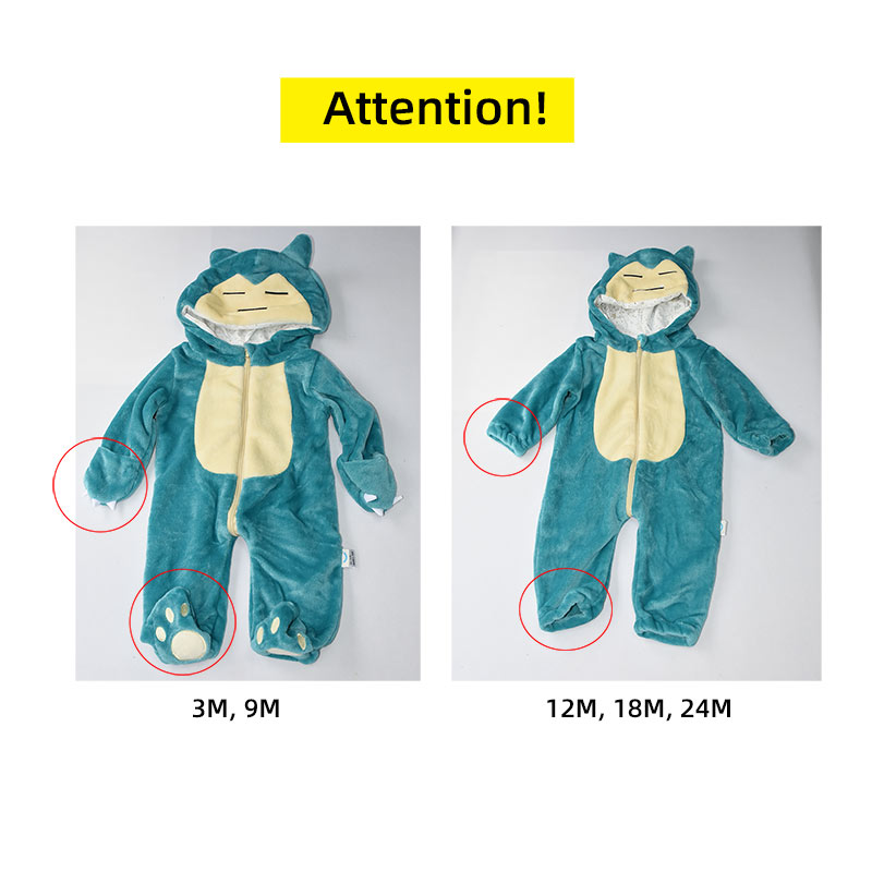 Snorlax Onesie Baby Romer Infant Cute Clothes   Y New Born Boy Girl Klgurumi Cartoon