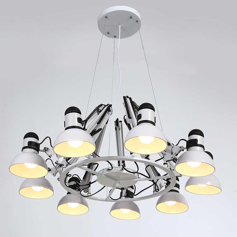 Винтажная Подвесная лампа-паук 6, 9, 12, 16 головок, черный, белый подвесной светильник, подвесные светильники, регулируемое освещение для дома
