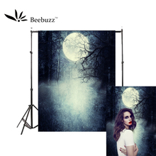 Beebuzz photo backdrop halloween new product sliver moonlight vampire werewolf background take pictures of parties