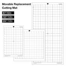 Esteira adesiva para substituição, 2 peças, almofada de tapete adesiva transparente com grade de medição 12*12-Polegada para camafeu de silhueta máquina do plotter