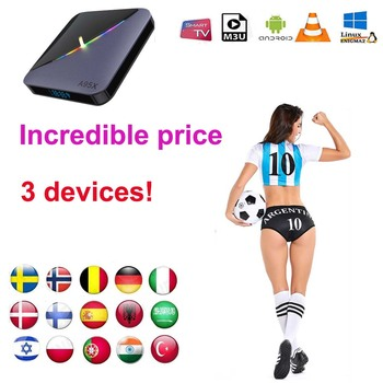 цена TV box  1 Year warranty  iptv 2 devices 3 devices  2 connect  3 connect Spain Italy m3u Smart TV Android Box no channels include онлайн в 2017 году