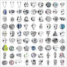 Bracelet Original en argent 925 pour femme, 925 perles, breloques Pandora, cadeau, nouveauté