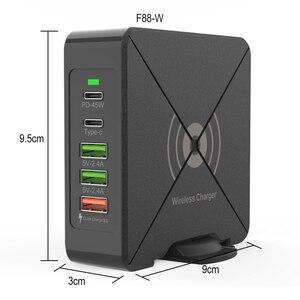 Image 4 - Có Cổng USB Sạc Điện Thoại Di Động 75W QC3.0 Laptop Nhanh Điện Dock Nhanh Chóng Sạc Wirless Sạc Loại C PD 45W Cổng