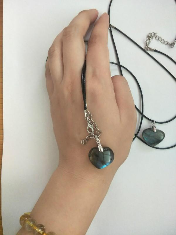 Natural Labradorite Pendant DIY labradorite stone necklace