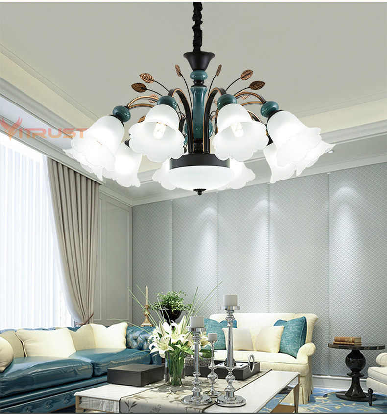 Nordic ceramic Chandeliers Luxury modern ceramics chandeliers ceiling lustre for Bedroom Dining Living Room pendant Chandelier