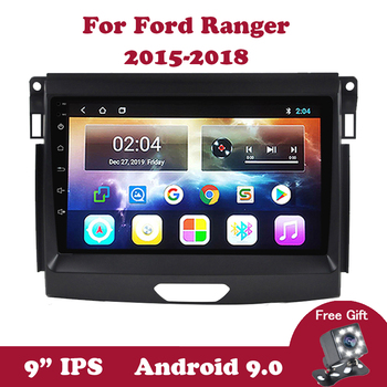 Android 9.0 Car Radio for Ford Ranger 2015-2018 DVD Multimedia Auto Player 2GRAM 32GROM 4 Core Carplay SWC GPS Navigation Canbus image