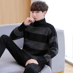 The new autumn/winter men long sleeve turtleneck loose render fashion knitwear joker