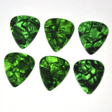100pcs/lot 0.46mm 0.71mm 0.96mm Green Pearl Celluloid Guitar Picks Plectrums for Acoustic Electric Bass