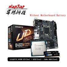 Intel Core i9 10900K es QTB2 CPU + GA B460M D2V płyta główna + Pumeitou DDR4 8G 16G 2666MHz ram garnitur LGA 1200 bez chłodnicy