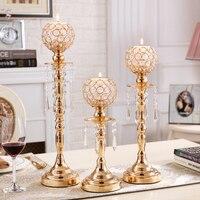 Candelabra Wedding Centerpiece Nordic Decor Candlesticks Crystal Candle Holder Glass Swieczniki Decoracion Hogar Mumluk CBY086