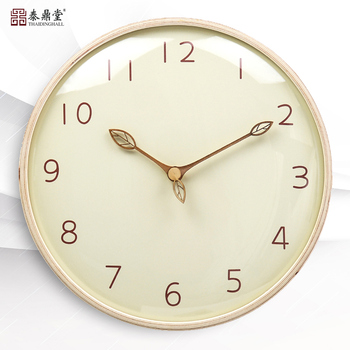 Wood Nordic Gold Wall Clock Luxury Japanese Living Room Home Simple Wall Watch Mute Bedroom Creative Unique Wall Clocks Decor C6