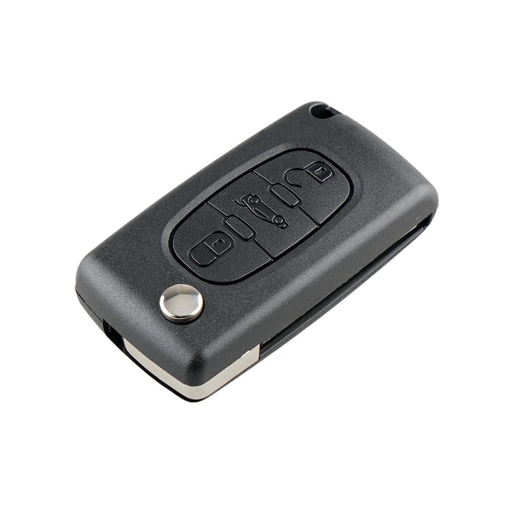 Новый чехол для автомобильного ключа для Peugeot 407 407 307 308 607 чехол для дистанционного ключа чехол для ключа 3 кнопки чехол для ключа CE0523 высокое ...