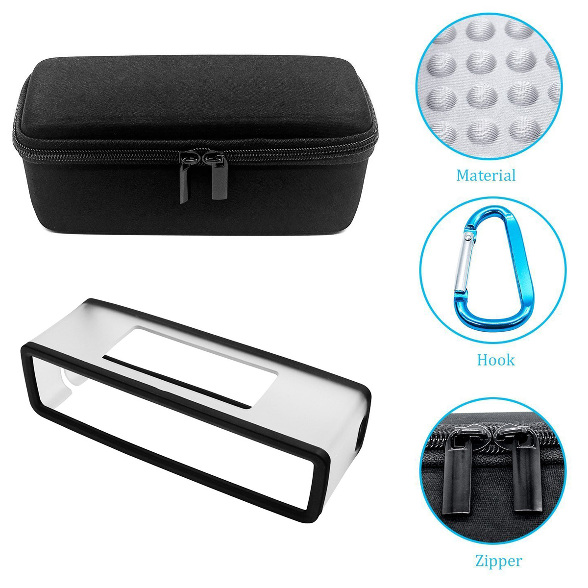 2020 New Portable case set Travel EVA Silicone Storage Case Bag and Soft Cover For Bose-Soundlink Mini I II 2 BT Speaker SOONHUA
