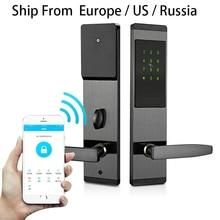 Güvenlik elektronik anahtarsız kapı kilidi dijital akıllı APP WIFI dokunmatik ekran tuş takımı şifreli kilit kapı