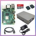 original Raspberry Pi 4 2GB 4GB RAM + 64GB memory card aluminum 3A adapter + Raspberry Pi 4 Aluminum alloy metal case