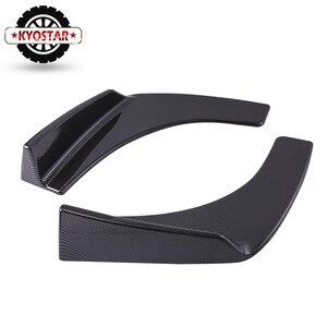 Image 2 - Universal Car Front Deflector Spoiler Splitter Diffuser Bumper Canard  Lip Body Shovels Carbon Fiber Look  Bumper Splitters